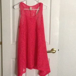 OP Hot Pink Lace Cover-up Dress NWOT